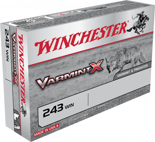 Winchester Ammo X243PLF Varmint X 243 Winchester 50 GR Lead-Free - 20rd Box