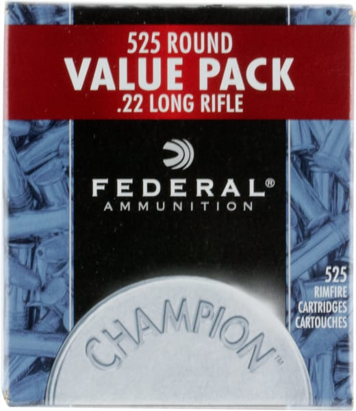 Federal 745 Champion 22 LR Copper-Plated Hollow Point 36 GR - 525rd Box