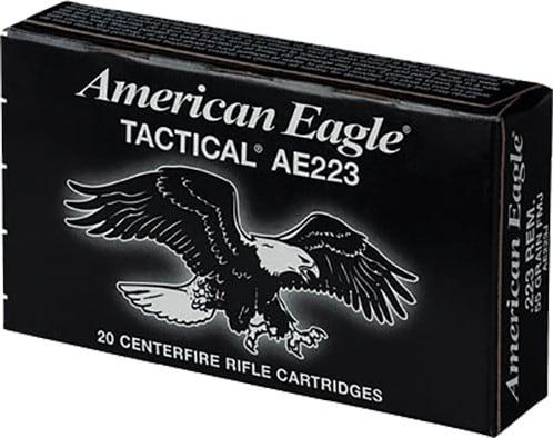 Federal AE223J American Eagle .223/5.56 NATO 55 GR Full Metal Jacket Boat Tail - 20rd Box