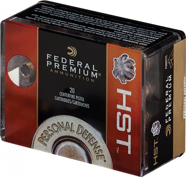 Federal P9HST1S Premium Personal Defense 9mm Luger 124 GR HST/10 Box - 20rd Box