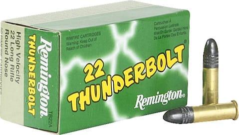 Remington Ammunition TB22A Thunderbolt 22 Long Rifle (LR) Round Nose 40 GR - 50rd Box