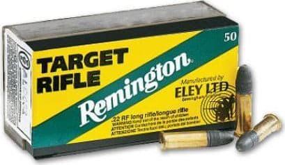 Remington Ammunition RE22T Eley 22 Long Rifle (LR) 40 GR Lead Round Nose - 50rd Box