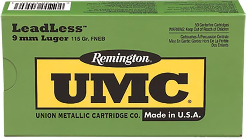 Remington Ammunition LL9MM11 UMC 9mm Luger 115  GR Flat Nose Enclosed Base - 50rd Box