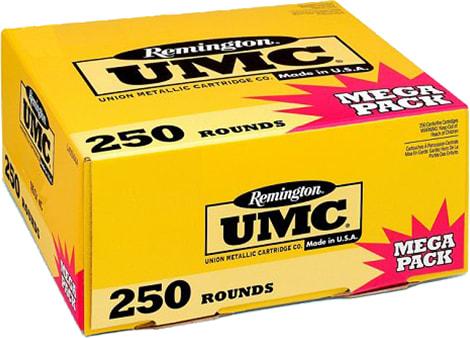Remington Ammunition L9MM3A UMC 9mm Luger 115  GR Metal Case (FMJ) - 250rd Box