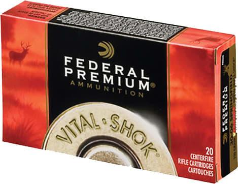 Federal P22250G Vital-Shok 22-250 Remington 60 GR Nosler Partition - 20rd Box
