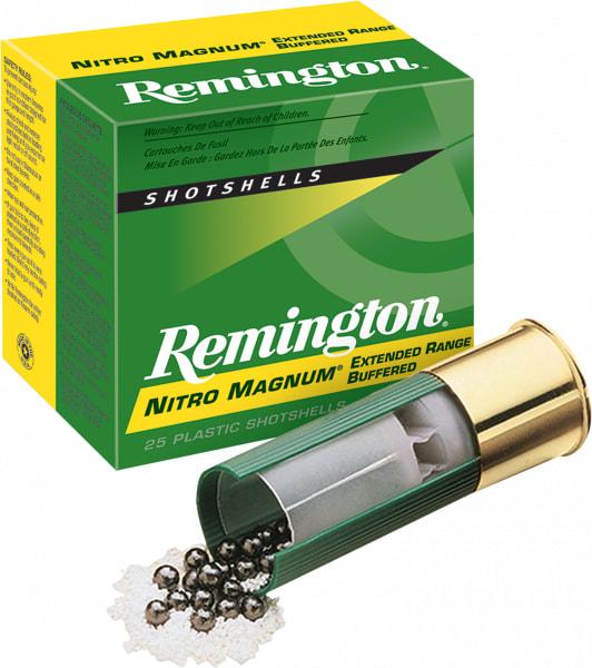 "Remington NM124 Nitro Mag Loads 12GA 3"" 1-5/8oz #4 Shot - 250sh Case"