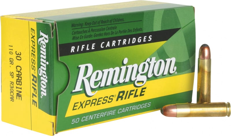 Remington Ammo R30CAR Standard 30 Carbine 110 GR Core-Lokt Soft Point - 50rd Box