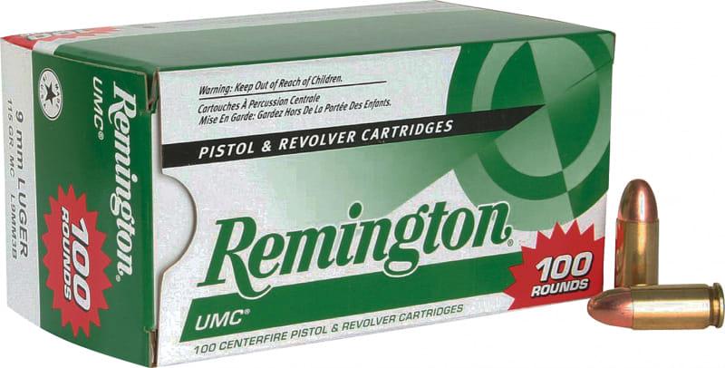 Remington Ammunition L9MM3B UMC 9mm Metal Case 115 GR - 100rd Box