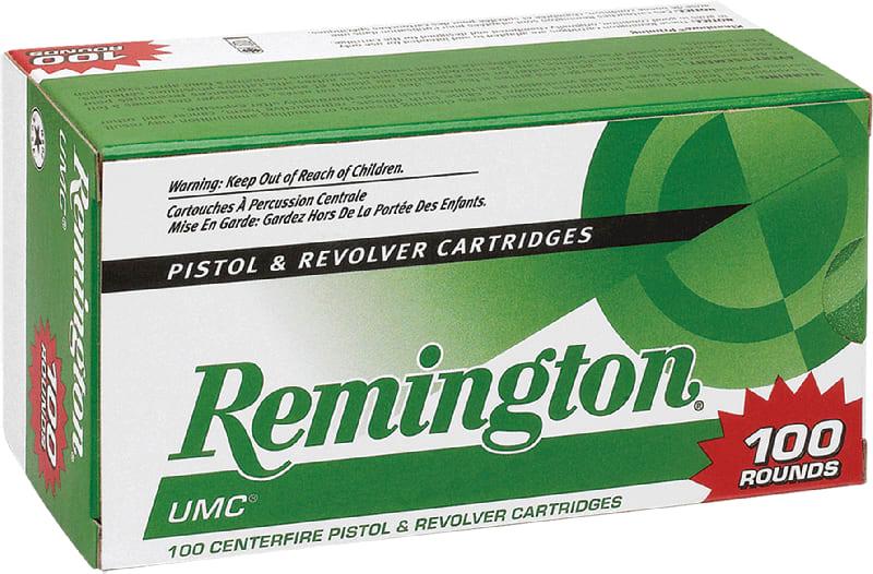 Remington Ammunition L9MM1B UMC 9mm Jacketed Hollow Point 115 GR - 100rd Box