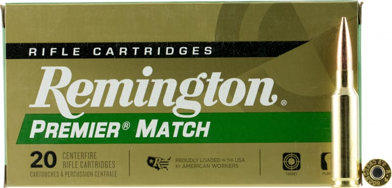 Remington Ammunition RM65CR Premier 6.5 Creedmoor 140 GR Open Tip Match Boat Tail - 20rd Box