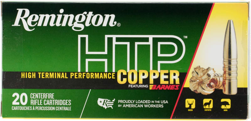 Remington Ammunition HTP65CR HTP Copper 6.5 Creedmoor 120 GR TSX Boat Tail - 20rd Box