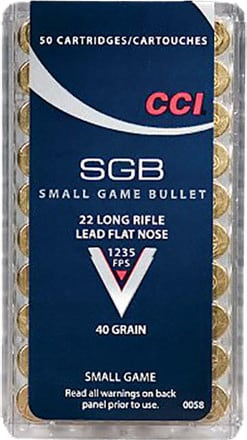 CCI 0058 22LR Small Game 40 GR Lead Flat Nose - 50rd Box