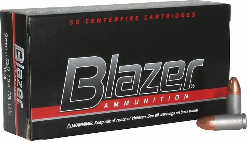 CCI 3578 Blazer 9mm Full Metal Jacket 124 GR - 50rd Box
