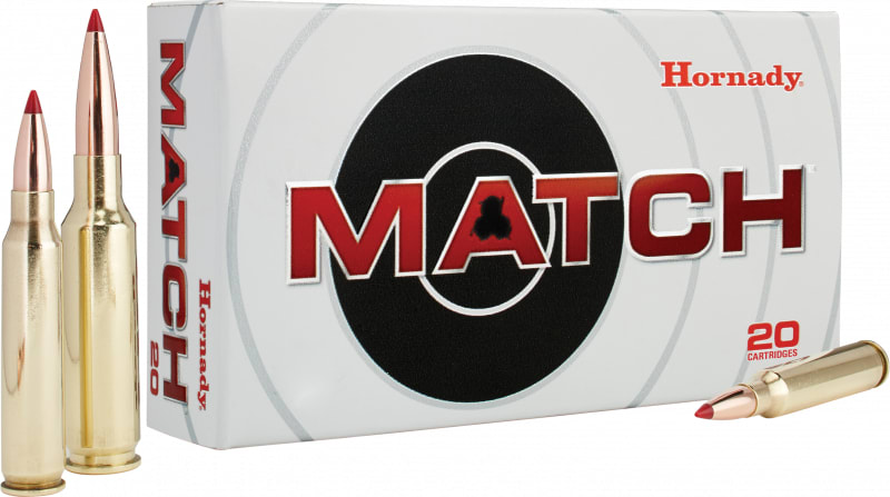 Hornady 8026 Match .223/5.56 NATO 75 GR Hollow Point Boat Tail - 20rd Box
