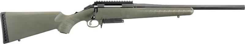 "Ruger 26974 American Predator 308 18"" Rail Moss Green Stock"
