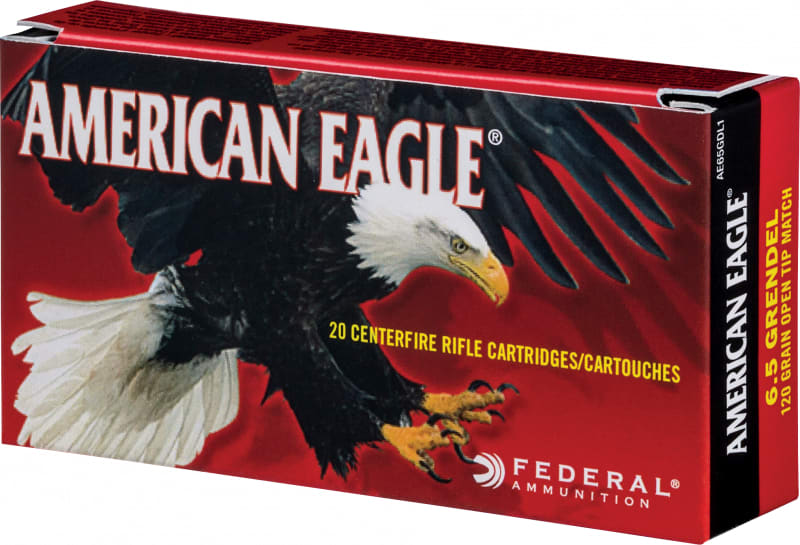 Federal AE65GDL1 American Eagle 6.5mm Grendel 120  GR Open Tip Match - 20rd Box