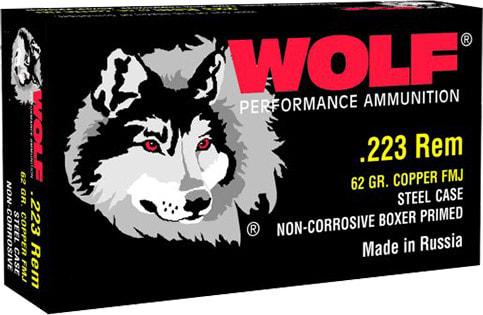 Wolf 22362 Performance .223/5.56 NATO Bimetal Jacket 62  GR - 500rd Case
