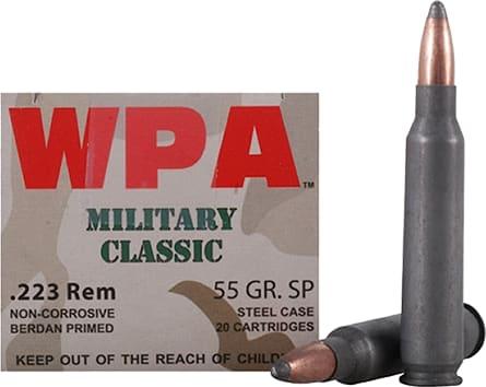 Wolf MC22355SP Military Classic 223 Remington 55 GR Soft Point - 500rd Case