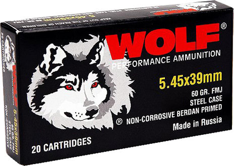 Wolf 545BFMJ Performance 5.45x39mm Bimetal FMJ 60  GR - 750rd Case
