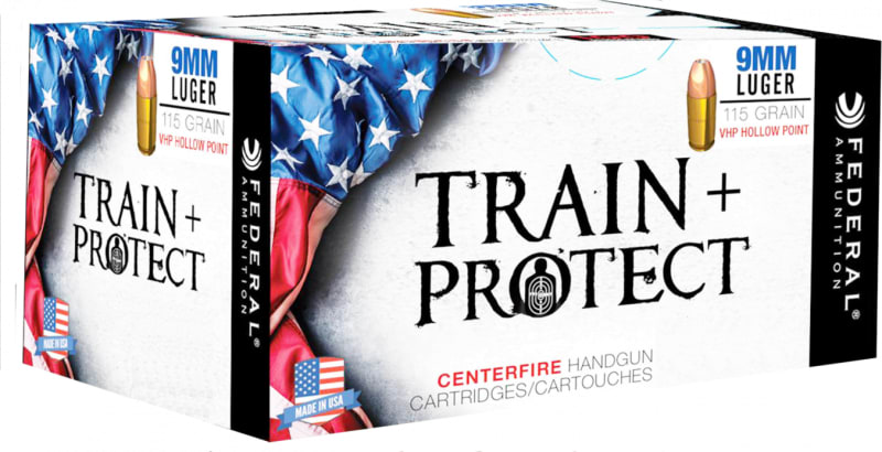 Federal TP9VHP1 Train and Protect 9mm Luger 115 GR Verstile Hollow Point (VHP) - 50rd Box