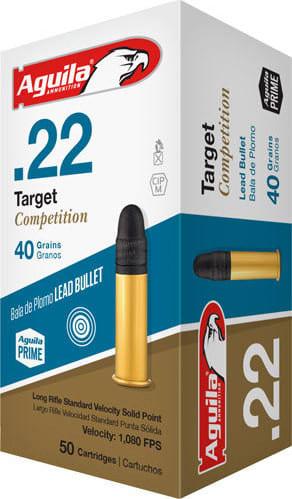 Aguila 1B222514 Target 22 Long Rifle (LR) 40 GR Lead Round Nose - 500rd Brick
