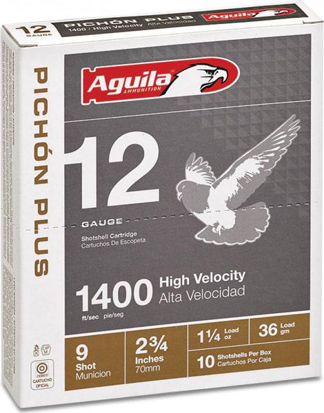 "Aguila 1CHB1297 Competition Pigeon Plus 12GA 2.75"" 1-1/4oz #9 Shot - 250sh Case"