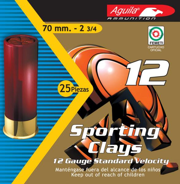 "Aguila 1CHB1246 Competition High Velocity Sporting Clay 12GA 2.75"" 1-1/8oz #7.5 Shot - 250sh Case"