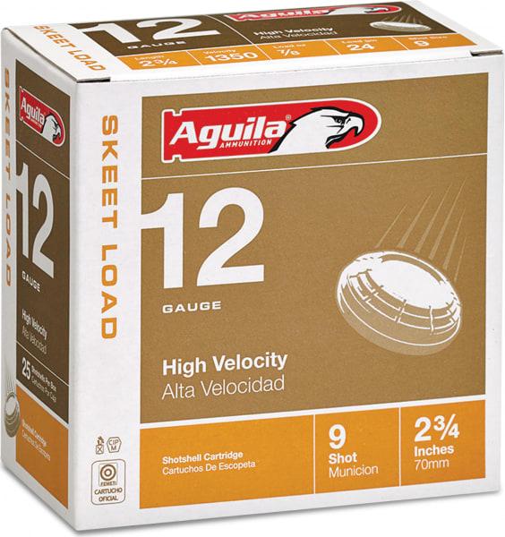 "Aguila 1CHB1254 Competition Skeet 12GA 2.75"" 7/8oz #9 Shot - 250sh Case"