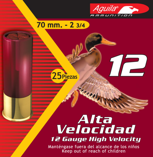 "Aguila 1CHB1204 Hunting High Velocity 12GA 2.75"" 1-1/4oz #4 Shot - 250sh Case"