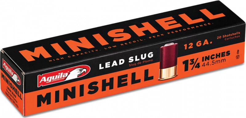 """Aguila 1C128974 Minishell 12GA 1.75"""" 7/8oz Slug Shot - 20sh Box"""