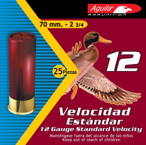 "Aguila 1CHB1218 Hunting Standard Velocity 12GA 2.75"" 1-1/8oz #8 Shot - 250sh Case"