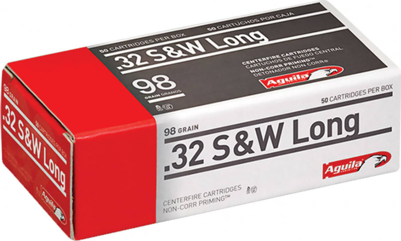 Aguila 1E322340 32 Smith & Wesson Long 98 GR Lead Round Nose - 50rd Box