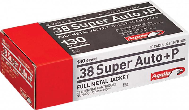 Aguila 1E382112 38 Super +P 130 GR Full Metal Jacket - 50rd Box