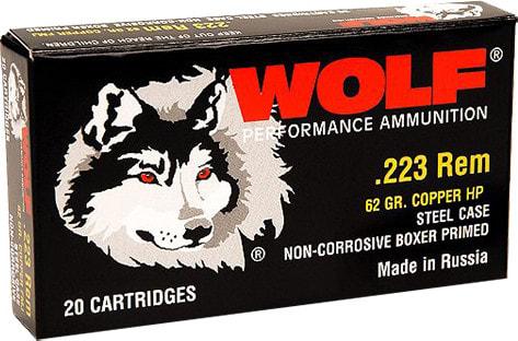 Wolf 22362HP Performance .223/5.56 NATO Bimetal Jacket 62 GR - 500rd Case