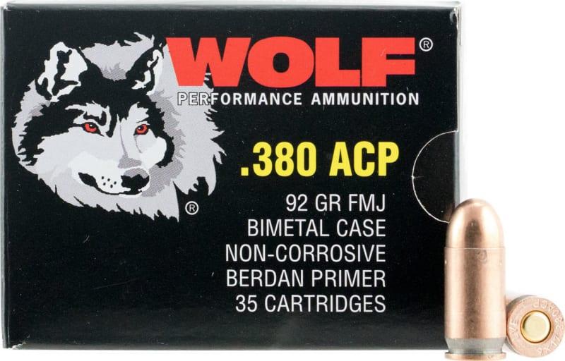 Wolf 919TINS Handgun 9mm Luger Full Metal Jacket 115  GR 800 Rds - 900rd Case