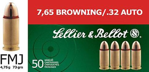 Sellier & Bellot SB32A Handgun 32 ACP 73 GR FMJ - 50rd Box