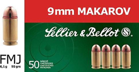 Sellier & Bellot SB9MAK 9x18 Makarov 95 GR Full Metal Jacket - 50rd Box