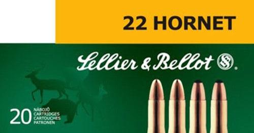 Sellier & Bellot SB22HA Rifle Training 22 Hornet 45 GR FMJ - 20rd Box