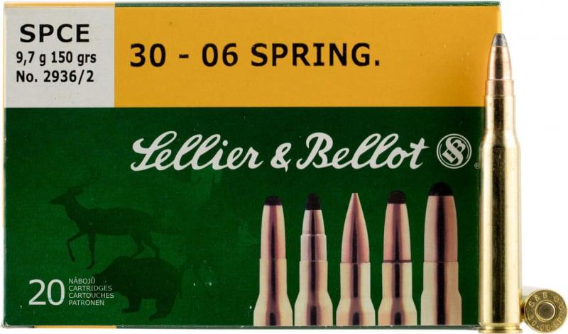 Sellier & Bellot SB3006B Rifle 30-06 180 GR Soft Point - 20rd Box