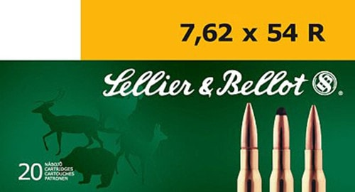 Sellier & Bellot SB76254RA Rifle Training 7.62X54mm Russian 180 GR FMJ - 20rd Box