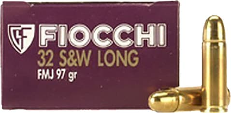 Fiocchi 32SWLA Shooting Dynamics 32 S&W Long 97 GR FMJ - 50rd Box