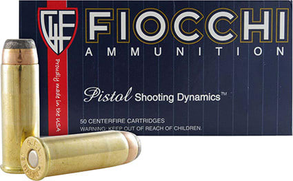 Fiocchi 44A500 Shooting Dynamics 44 Remington Magnum 240 GR Jacketed Soft Point - 50rd Box