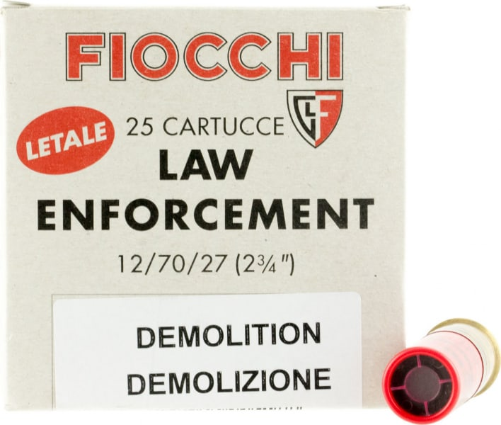 """Fiocchi 12LEDEMO Lead and Wax Buckshot/Slug 12GA 2.75"""" 1oz Slug Shot 25 Bx - 25sh Box"""