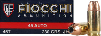 Fiocchi 45T500 Shooting Dynamics 45 ACP 230 GR Jacketed Hollow Point - 50rd Box