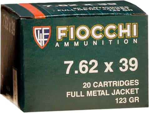 Fiocchi 762SOVA Shooting Dynamics 7.62x39mm 124 GR Full Metal Jacket - 20rd Box