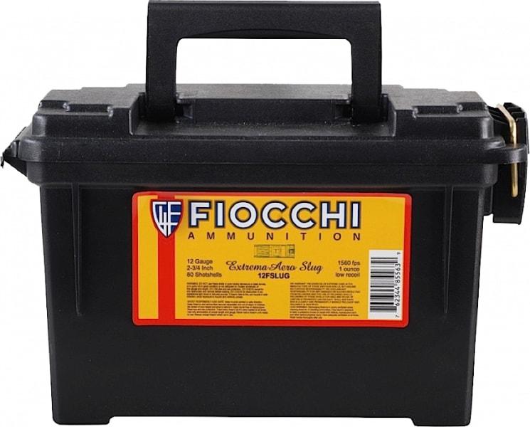 "Fiocchi 12FLRSLU Rifled Slug 12GA 2.75"" 1oz Slug Shot - 80sh Case"