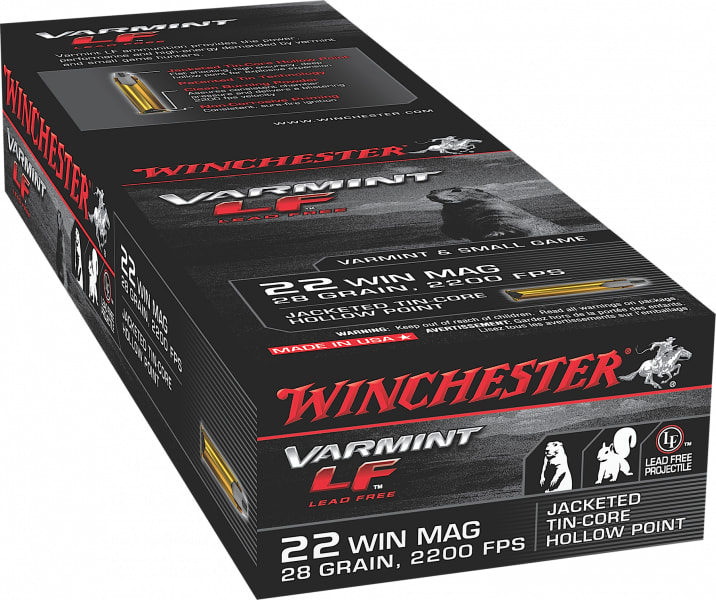 Winchester Ammo X22MHLF Varmint LF 22 WMR 28 GR Jacketed Hollow Point - 50rd Box