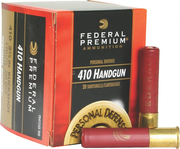 "Federal PD412JGE000 Premium Personal Defense 410GA 2.5"" Buckshot 4 Pellets 000 Buck - 20sh Box"