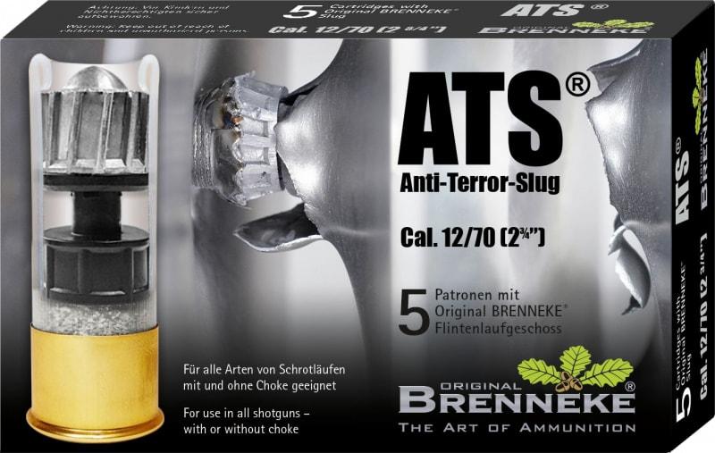 "Brenneke SL122ATS Anti Terror 12GA 2.75"" 1oz Slug Shot - 5sh Box"