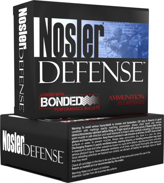 Nosler 38432 Performance Bonded 9mm+P Hollow Point 124 GR - 20rd Box